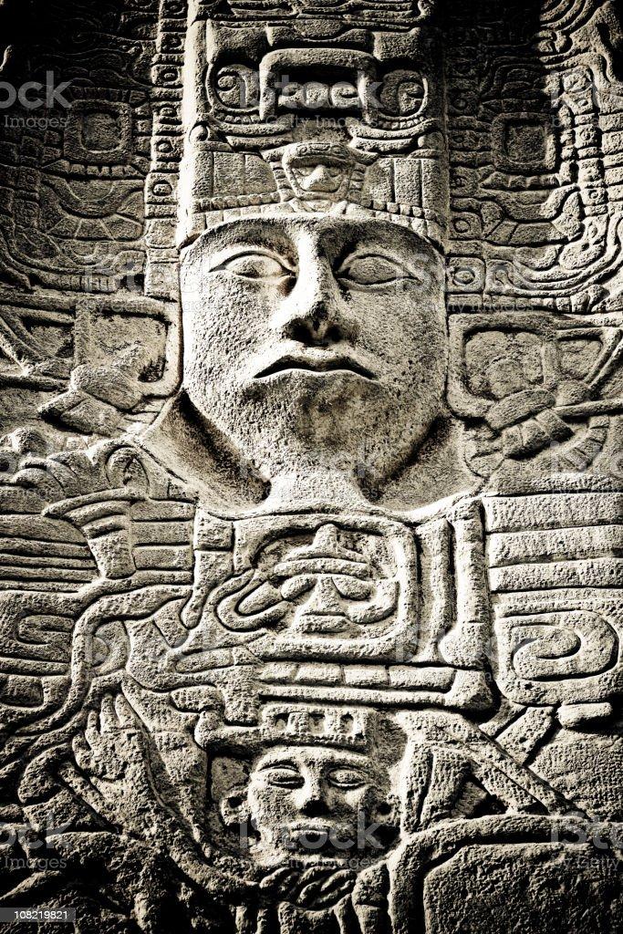 Maya Carving stock photo