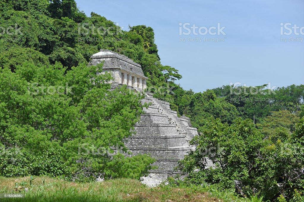 Maya city Palenque stock photo