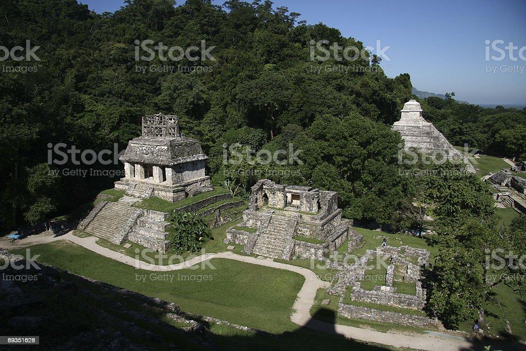 maya complex Palenque Sun temple stock photo