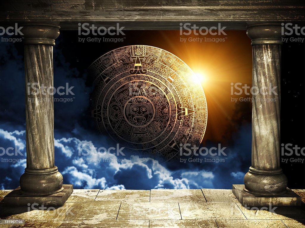 Maya prophecy royalty-free stock photo