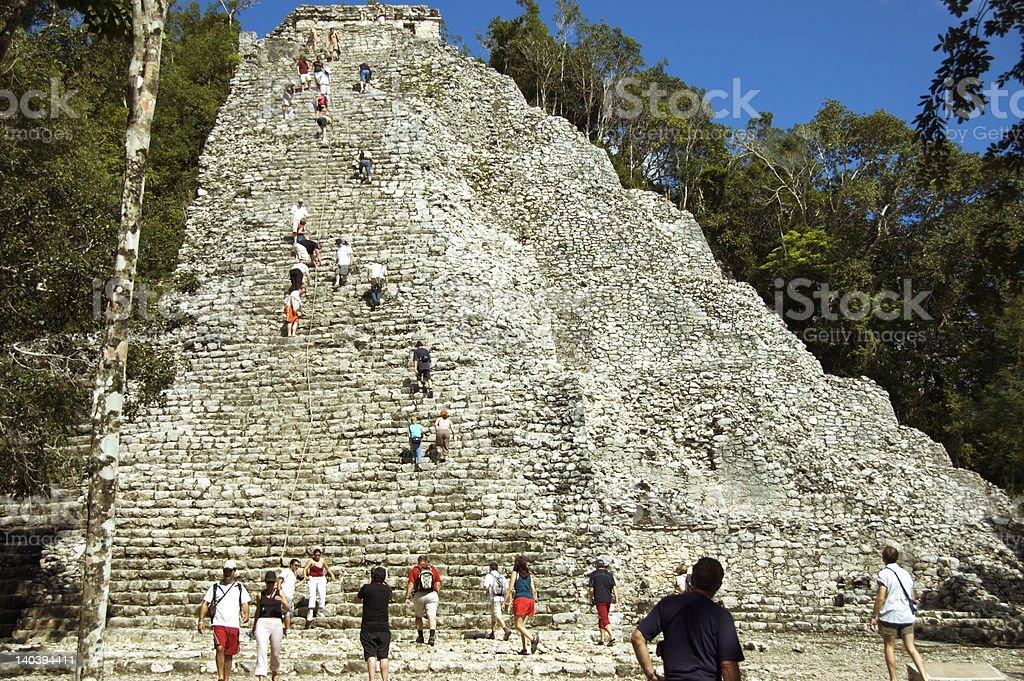 Maya pyramid 2 stock photo