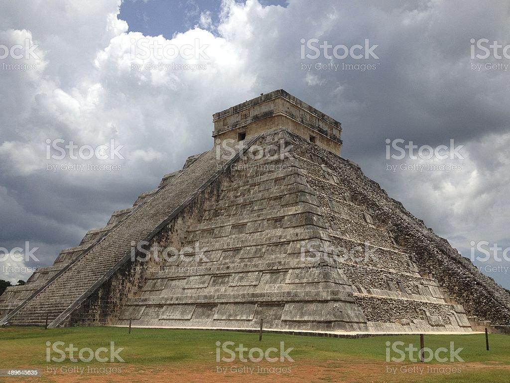 Maya Pyramid in Chichen Itza, Mexico royalty-free stock photo