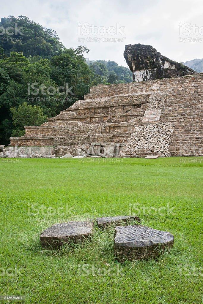 Maya Pyramid, Palenque, Mexico stock photo
