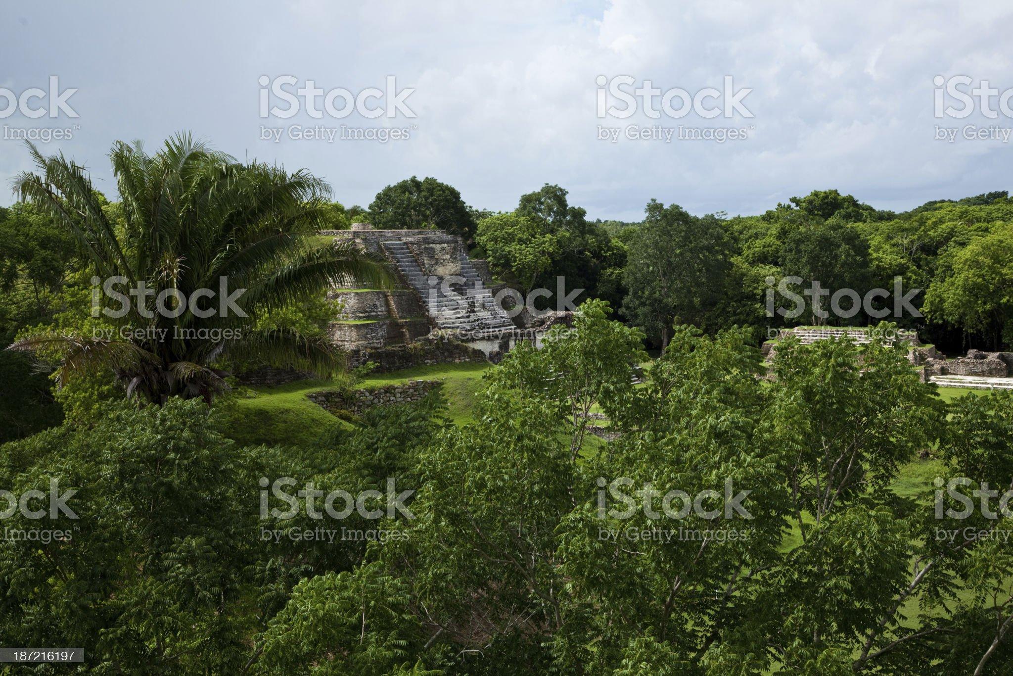 Maya ruins of Altun Ha in Belize royalty-free stock photo