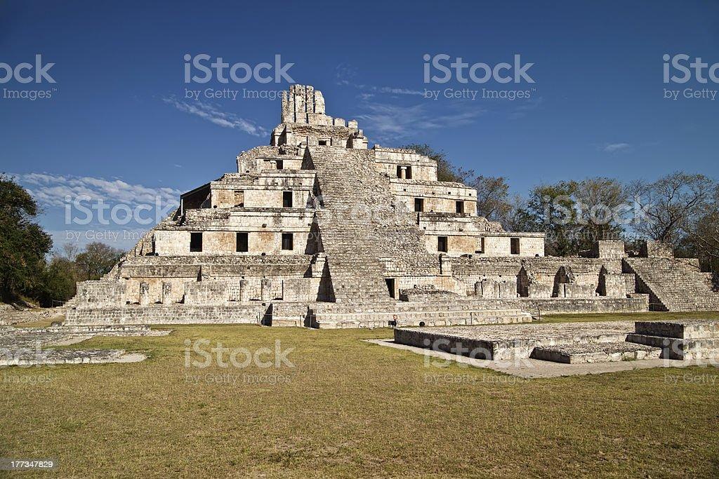 Maya ruins of Edzna royalty-free stock photo