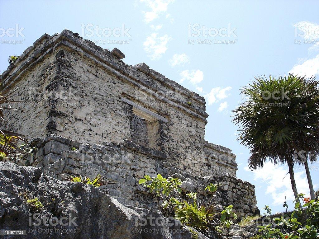 Mayan Building stock photo