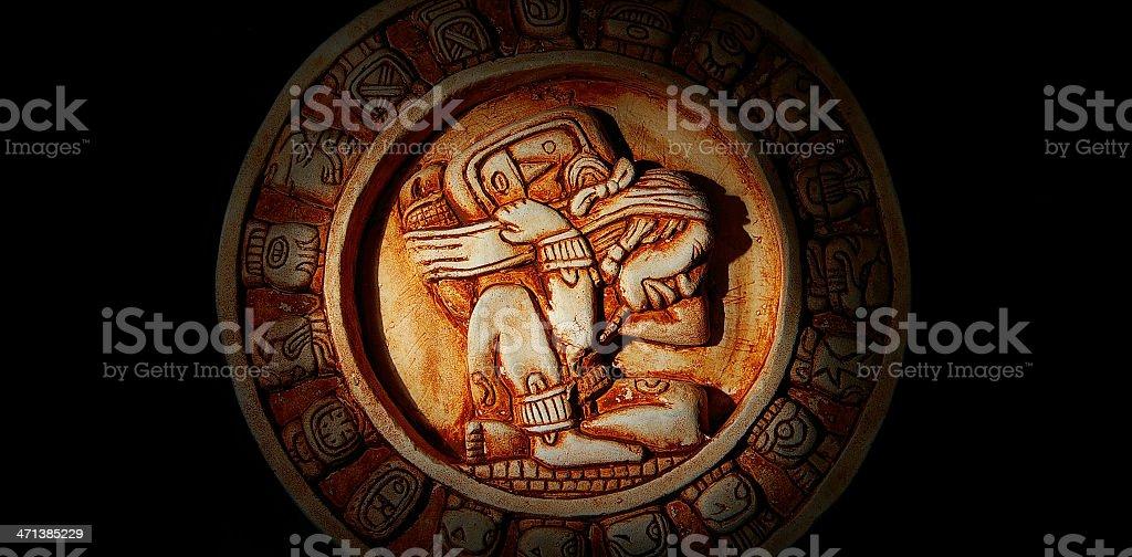 Mayan calendar macro stock photo