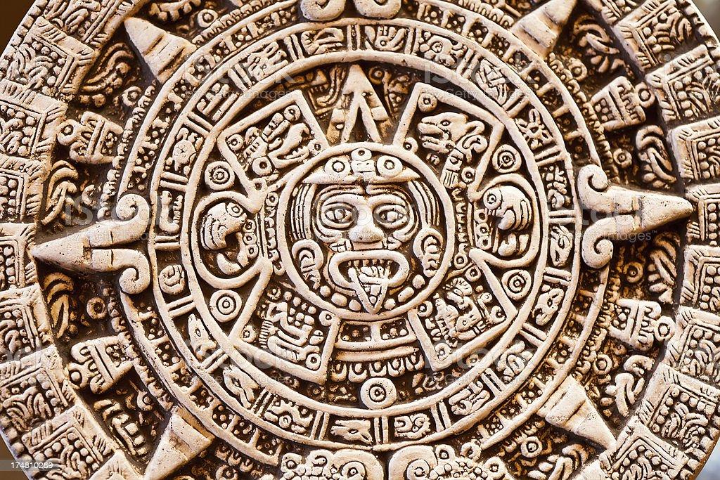 Mayan calendar royalty-free stock photo