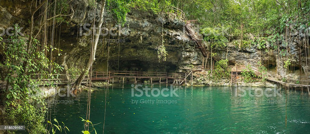 Mayan Cenote stock photo