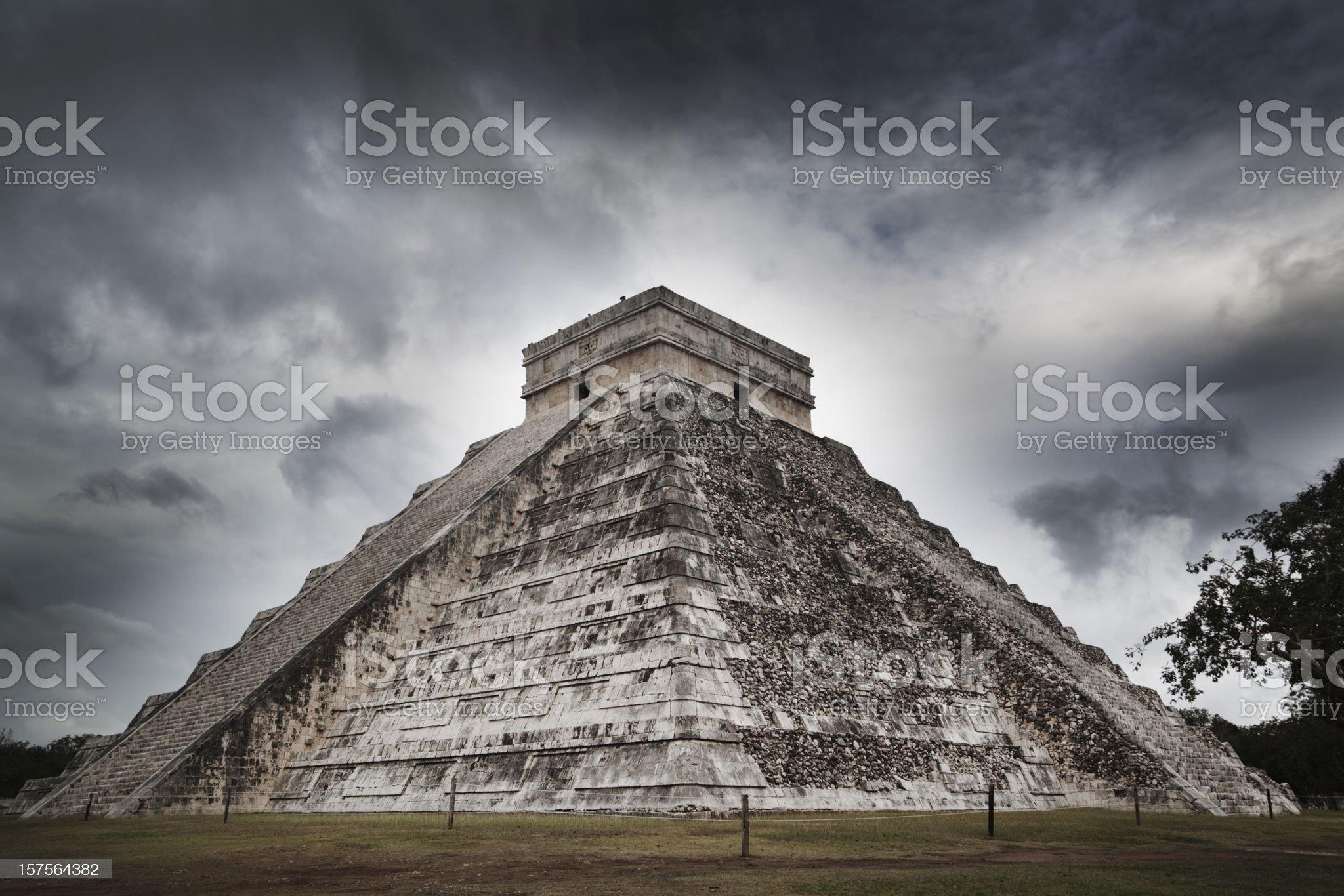 Mayan Chichen Itza Ancient Pyramid Temple Ruin of Yucatan Mexico royalty-free stock photo