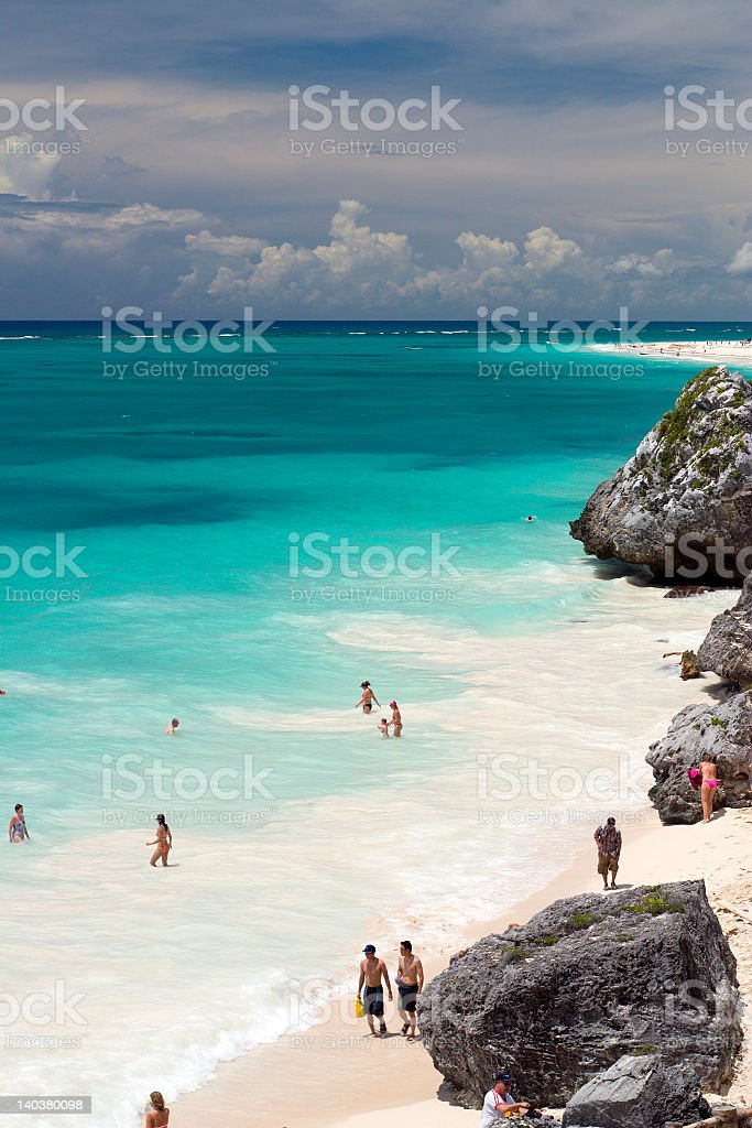 Mayan Coast stock photo