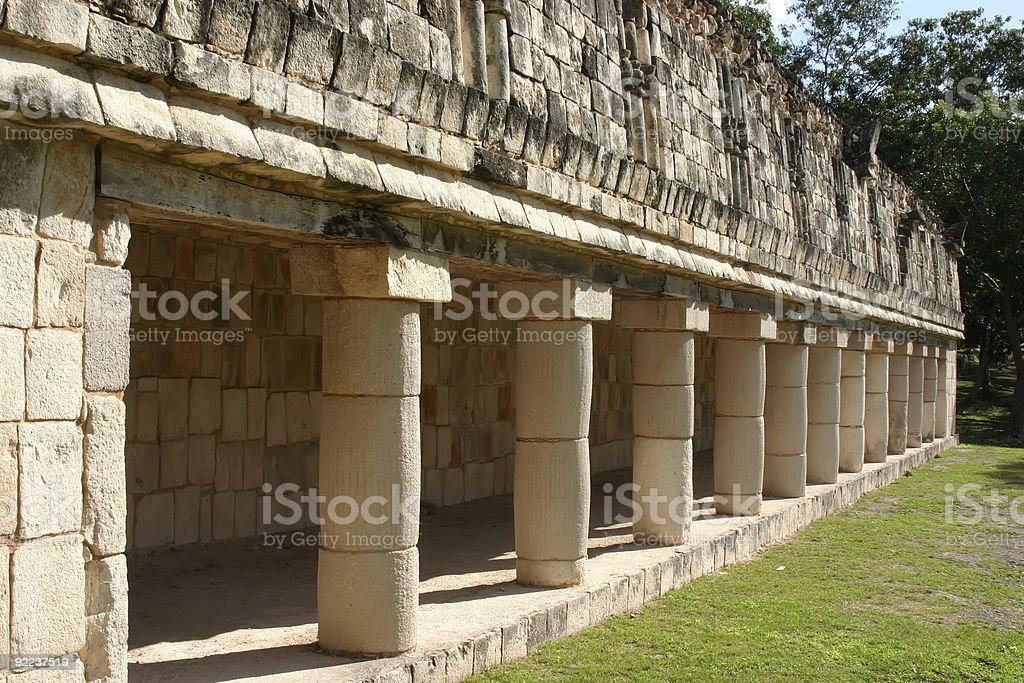 Mayan columns royalty-free stock photo