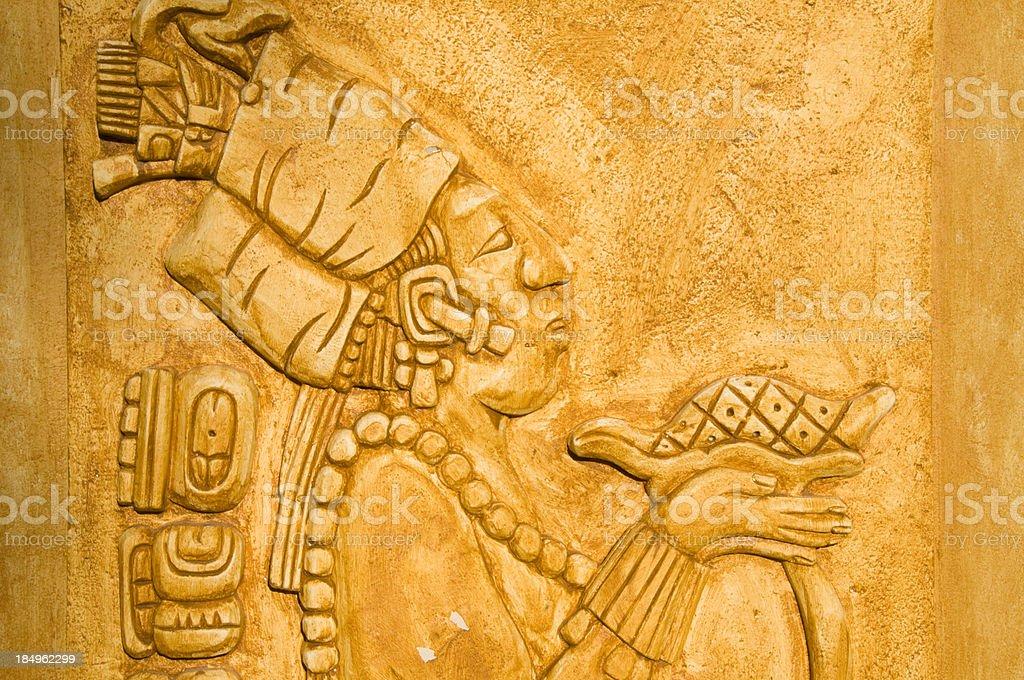 Mayan Culture Wall Art stock photo