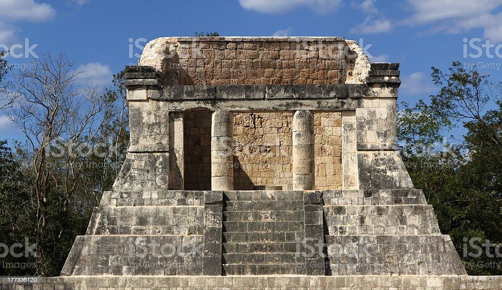 Mayan Dais at Chichen Itza royalty-free stock photo