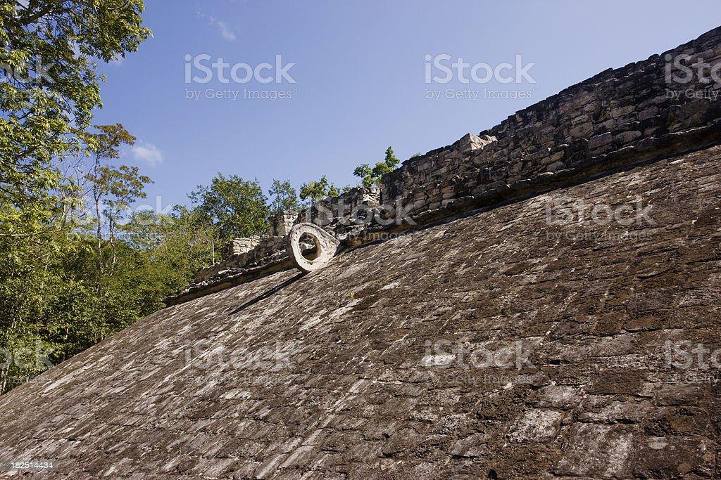 'Mayan game field in Coba, Yucatan, Mexico' stock photo