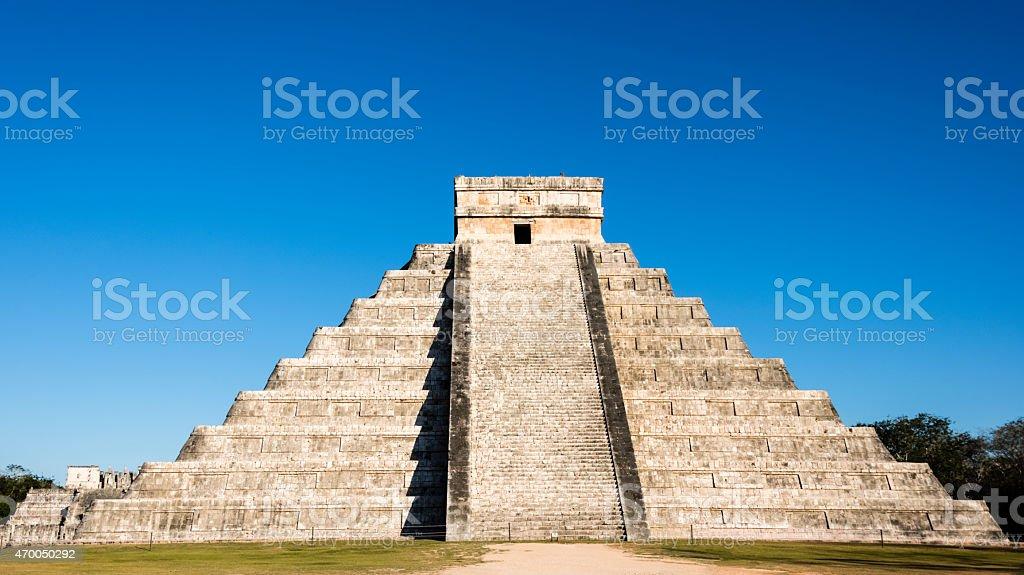 XXXL: Mayan Kukulkan Pyramid in Chichen Itza, Mexico stock photo