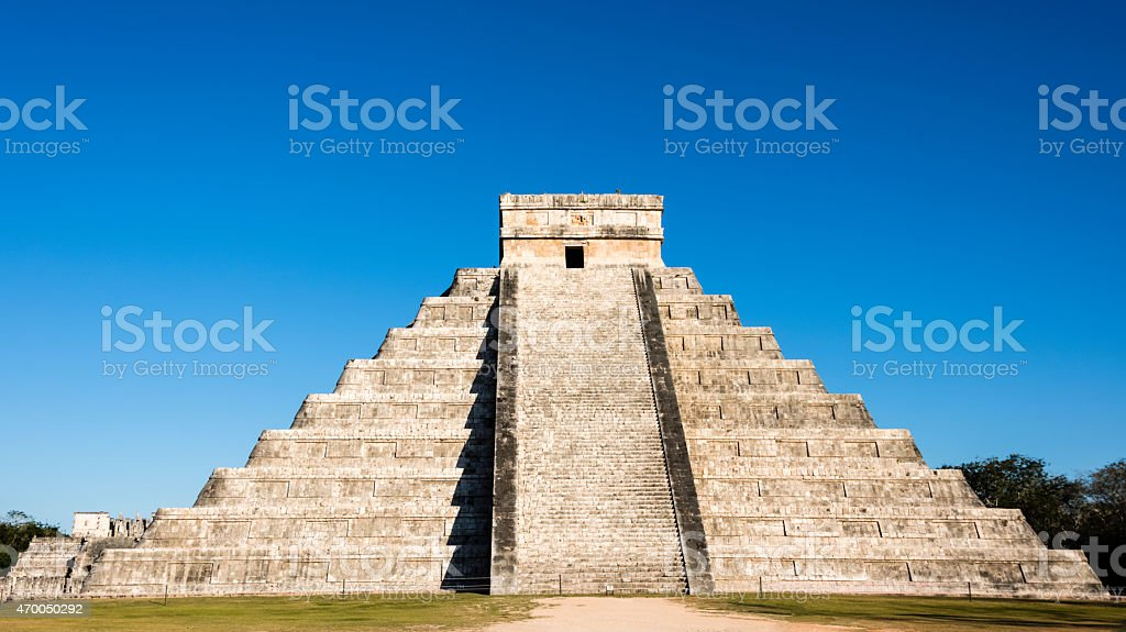 XXXL: Mayan Kukulkan Pyramid in Chichen Itza, Mexico stock photo