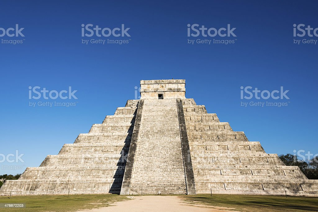 Mayan Kukulkan Pyramid in Chichen Itza, Mexico -XXXL stock photo