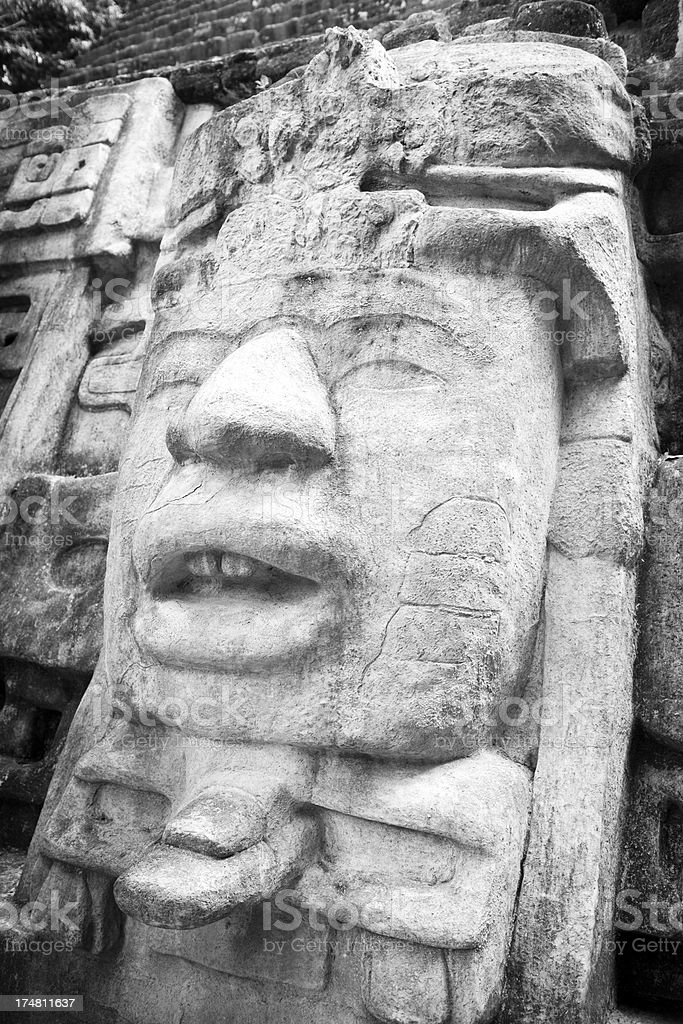 Mayan Mask Temple royalty-free stock photo