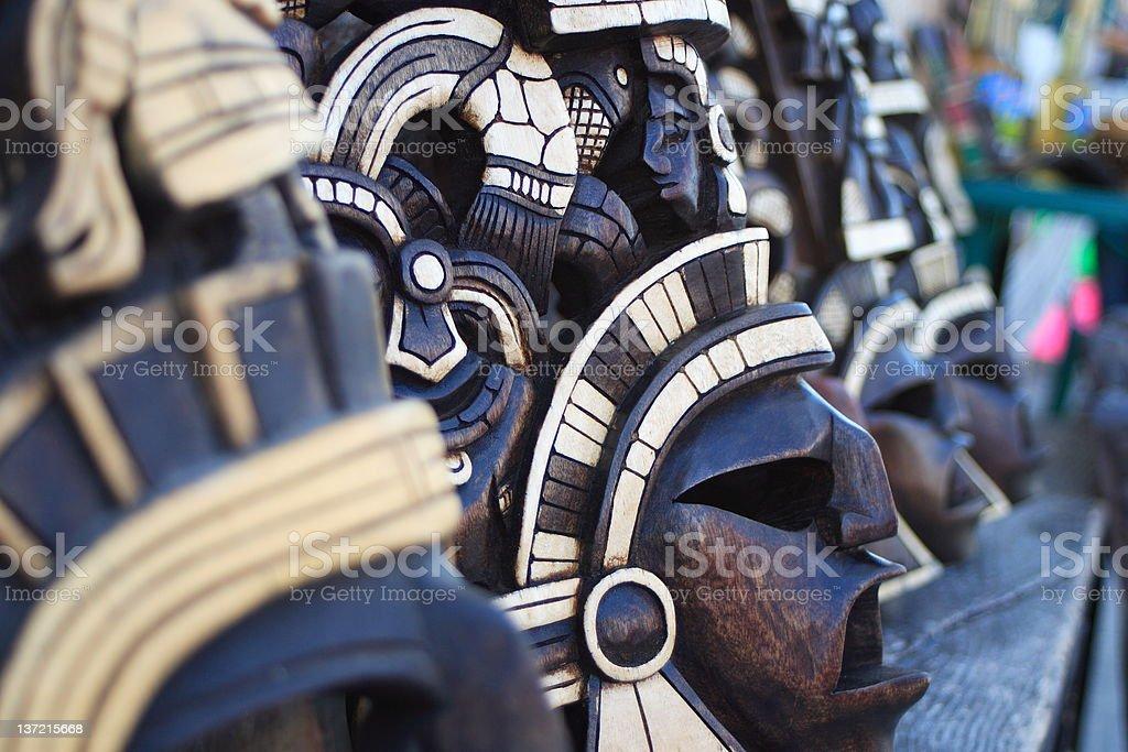 Mayan Masks royalty-free stock photo