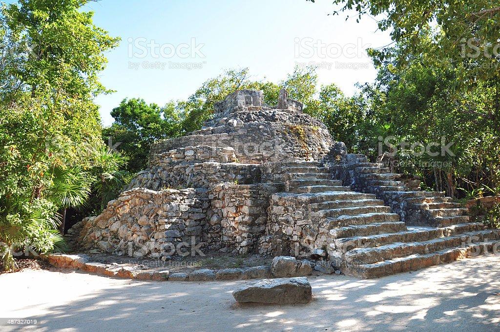 Mayan pyramid, Coba, Mexico stock photo