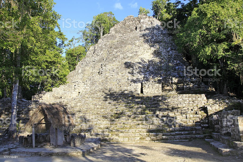 'Mayan pyramid in Coba, Mexico' stock photo