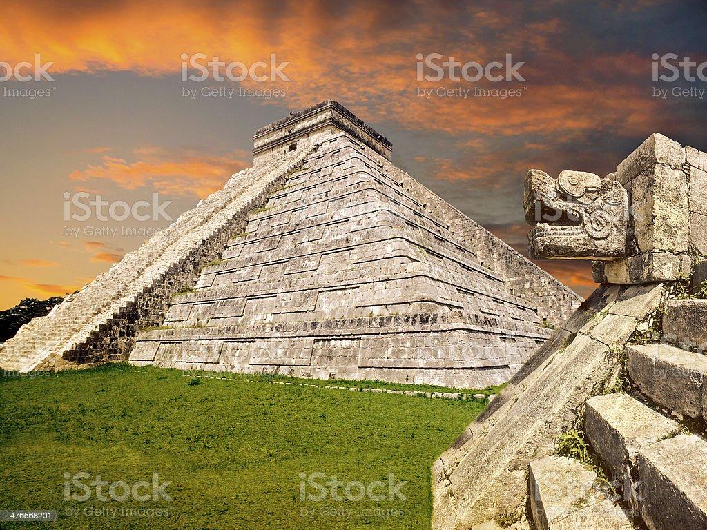 Mayan pyramid, Mexico stock photo
