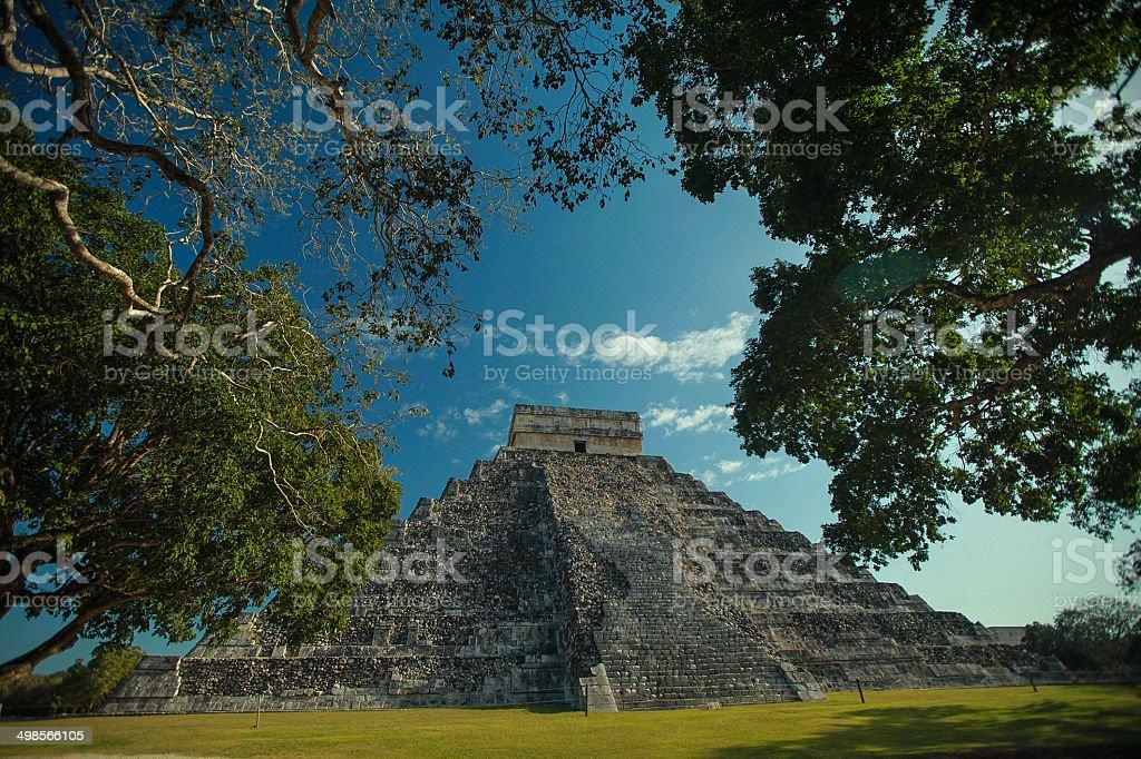Mayan pyramid stock photo