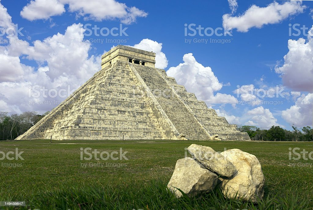 mayan ruins Chichen Itza Mexico royalty-free stock photo