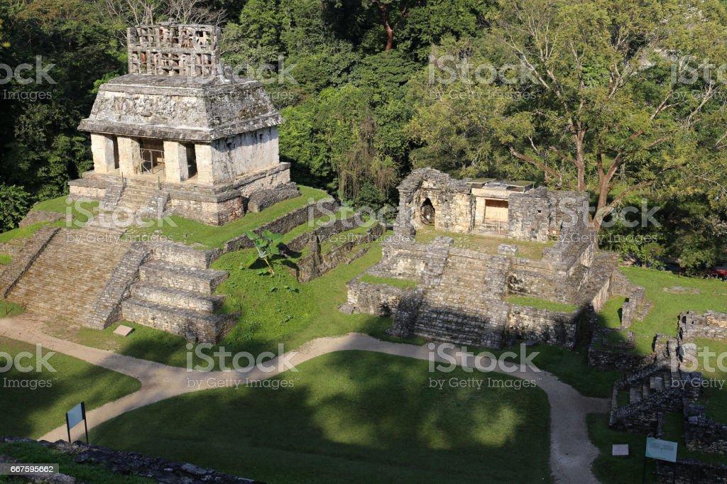 Mayan ruins in Palenque, Chiapas, Mexico stock photo
