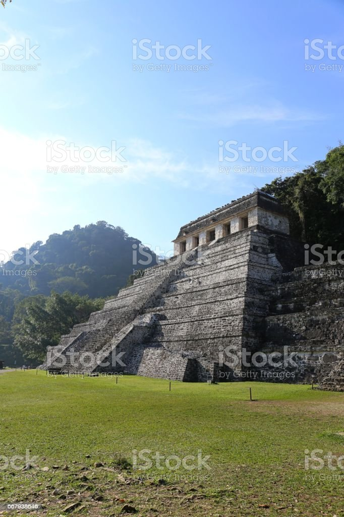 Mayan ruins in Palenque, Chiapas, Mexico stock photo