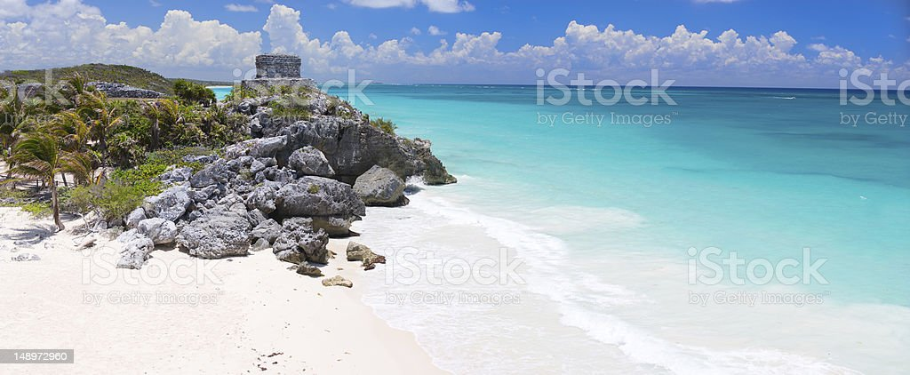 Mayan ruins in Tulum royalty-free stock photo