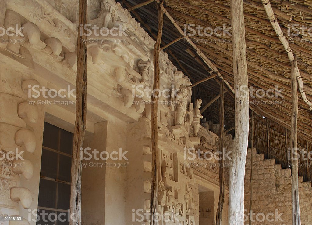 Mayan ruins of Ek Balam in Valladolid, Mexico. stock photo