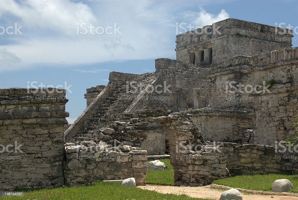 Mayan Ruins of Tulum royalty-free stock photo