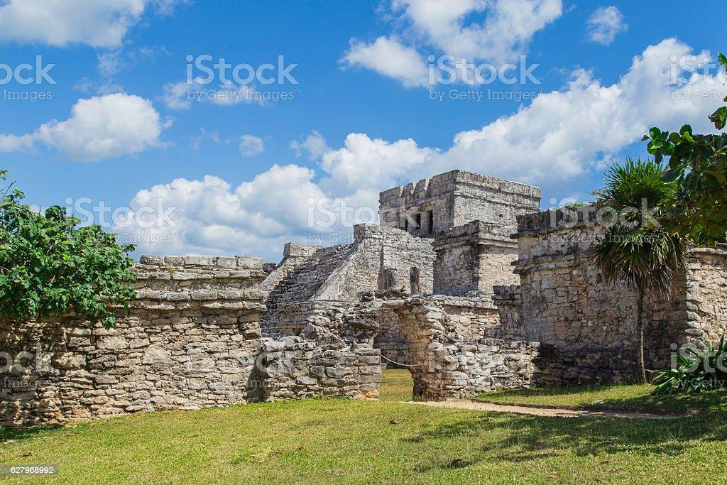 Mayan Ruins of Tulum. Riviera Maya. Mexico stock photo