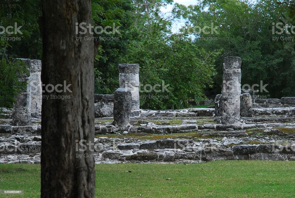 Mayan Ruins on Cozumel royalty-free stock photo