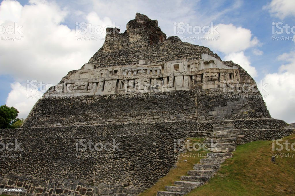 Mayan ruins Xunantunich, San Ignacio, Belize stock photo
