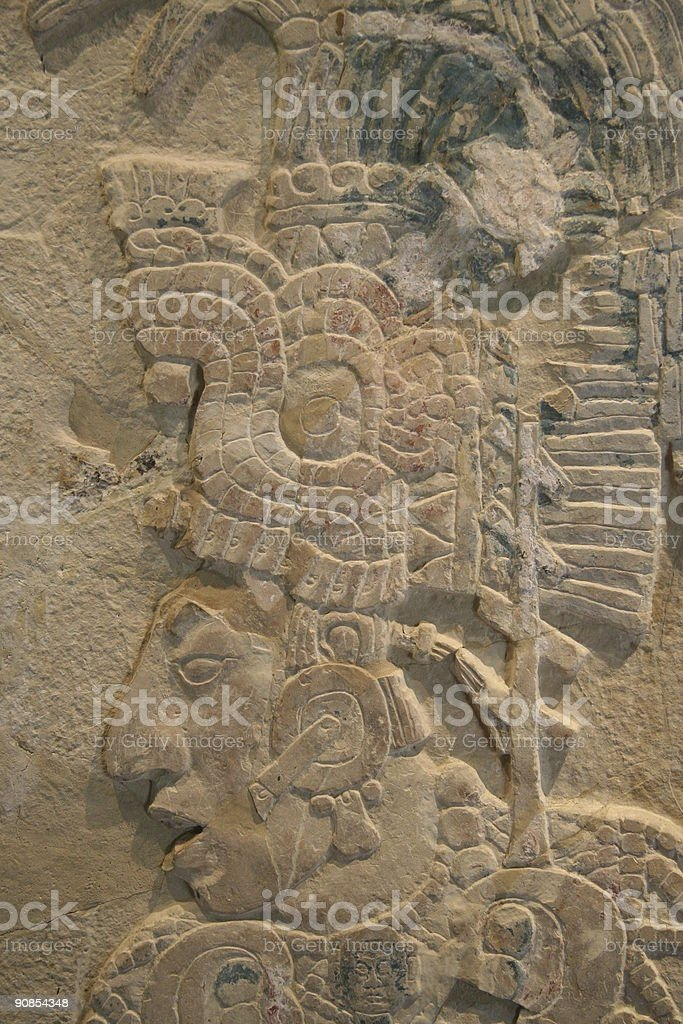 Mayan sculpting Palenque Mexico royalty-free stock photo
