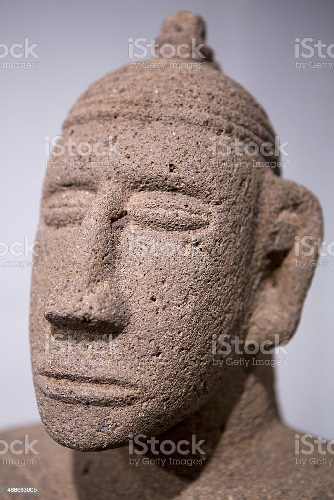 Mayan sculpture in Costa Rica stock photo
