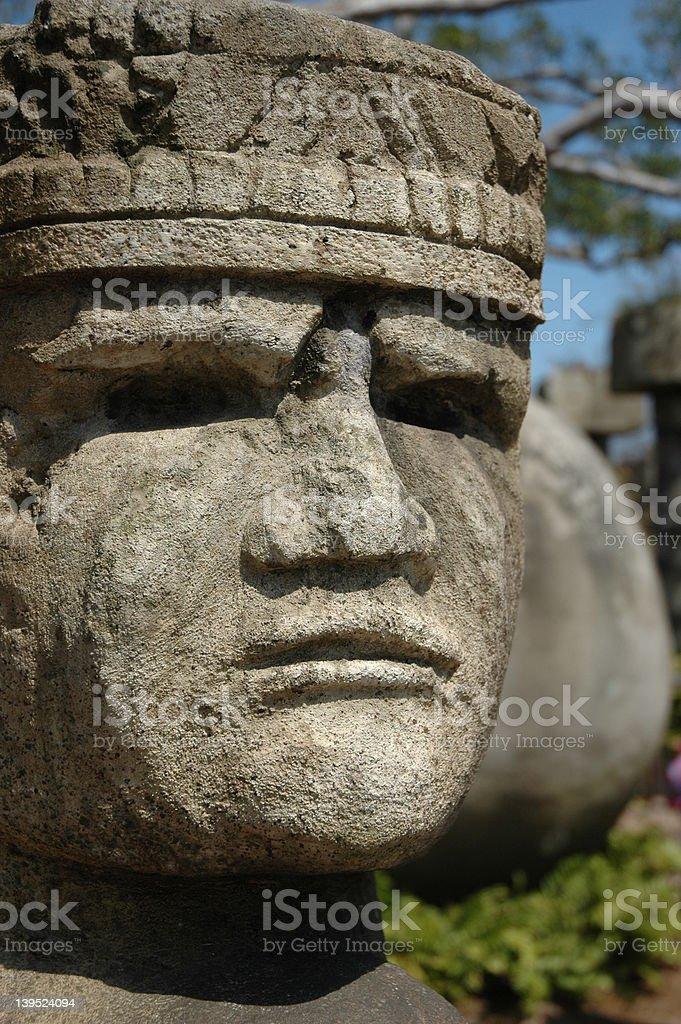 Mayan Sculpture stock photo