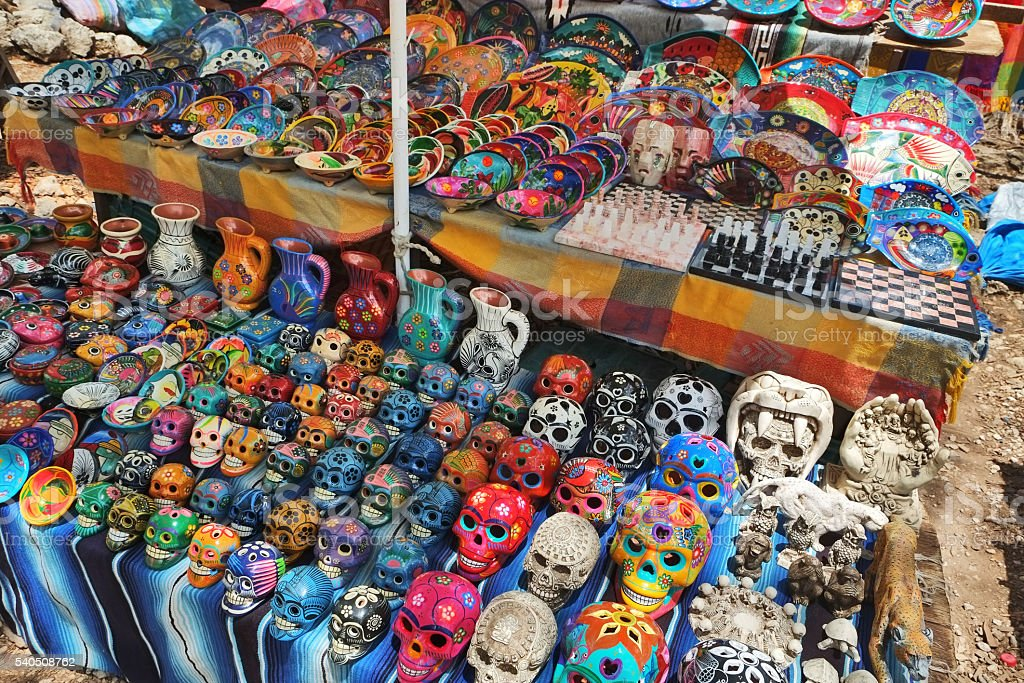 Mayan Souvenirs stock photo