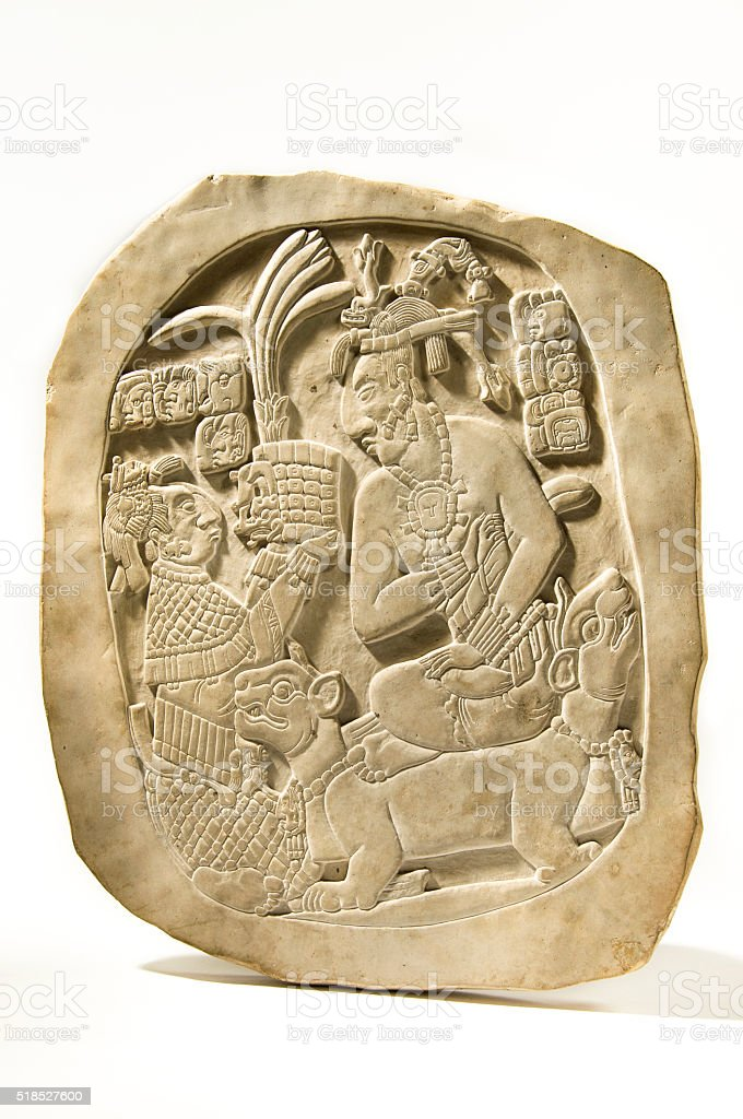 Mayan Stele Isolated stock photo