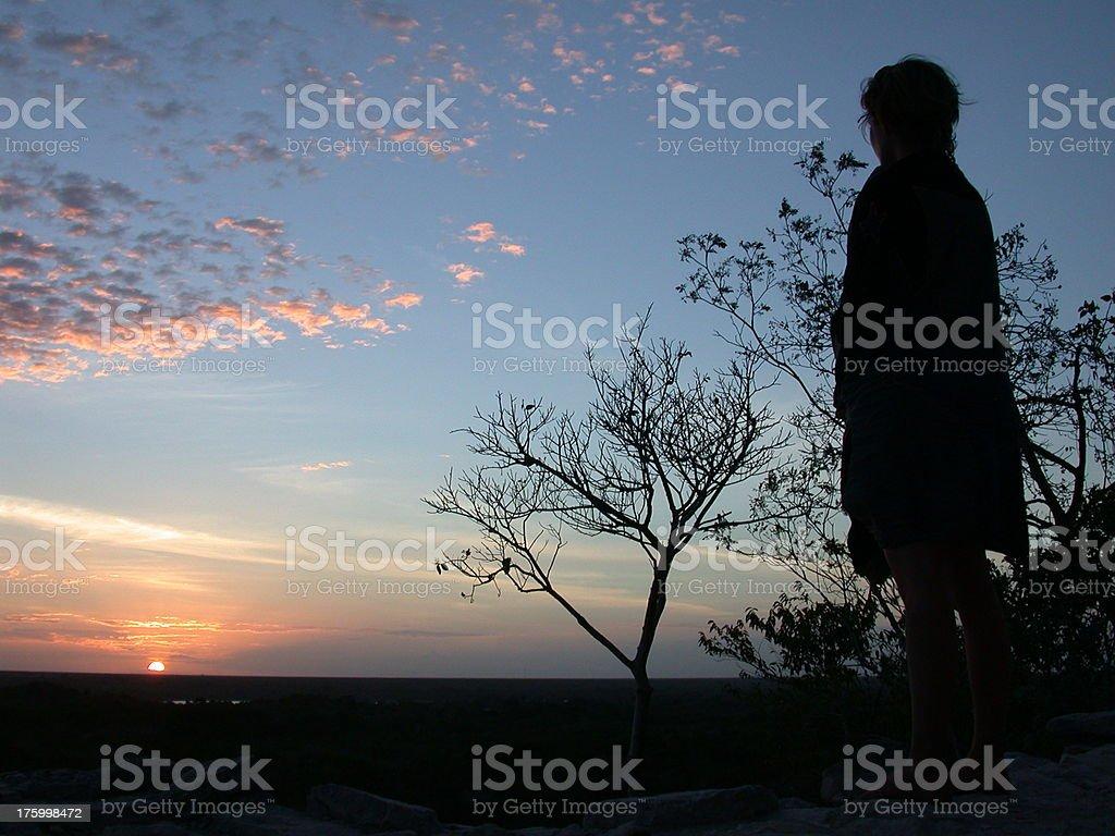 Mayan Sunset royalty-free stock photo