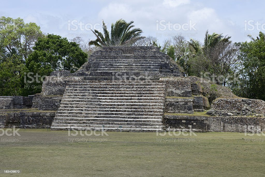 Mayan Temple of Green Tomb royalty-free stock photo