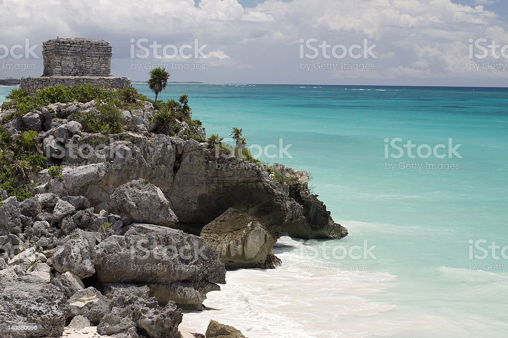 Mayan Temple stock photo