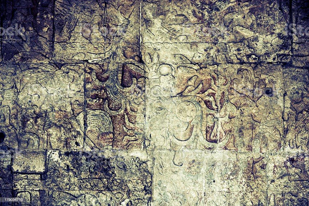 Mayan Wall stock photo
