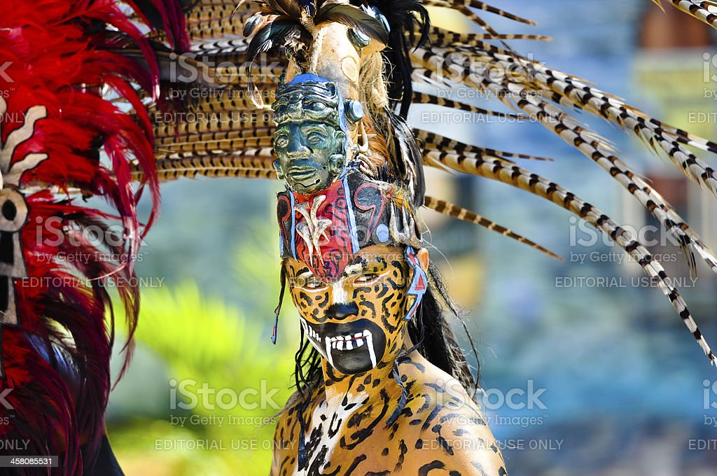 Mayan Warriors in Traditional Dress stock photo