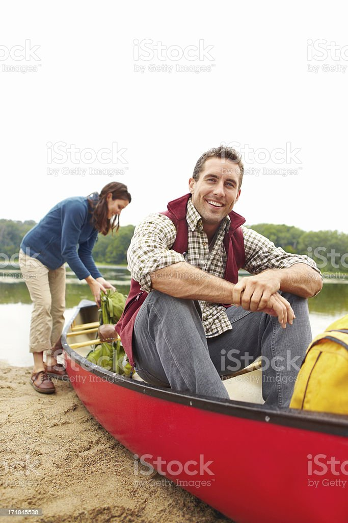 Maybe I could do a little fishing... royalty-free stock photo