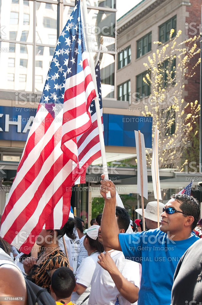 Mayday Protest royalty-free stock photo