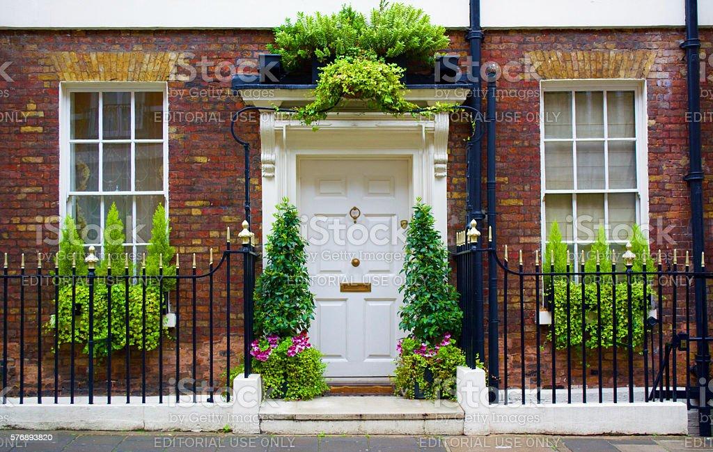 Mayfair London Door stock photo